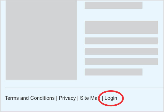 how to add login to website