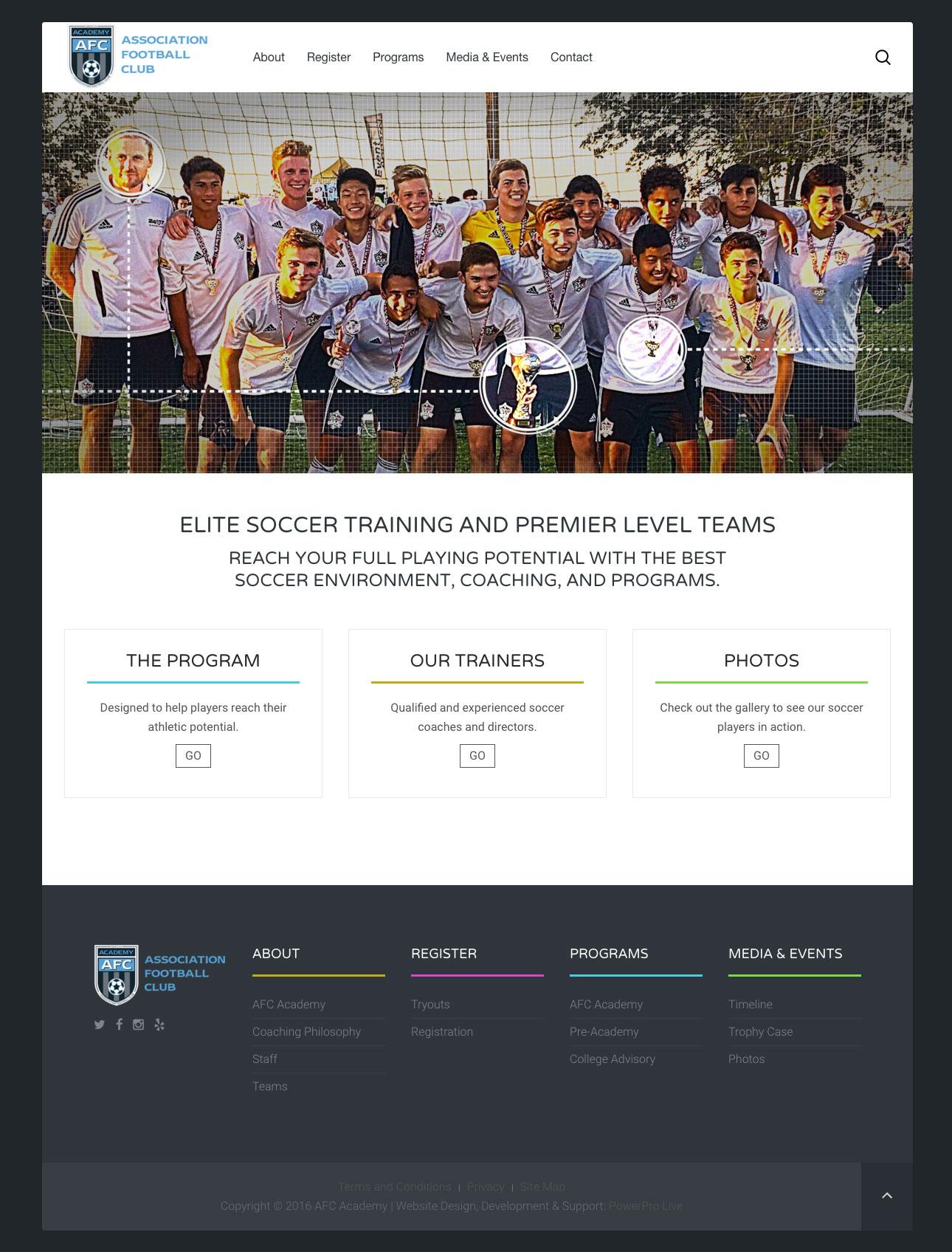afc-academy-website