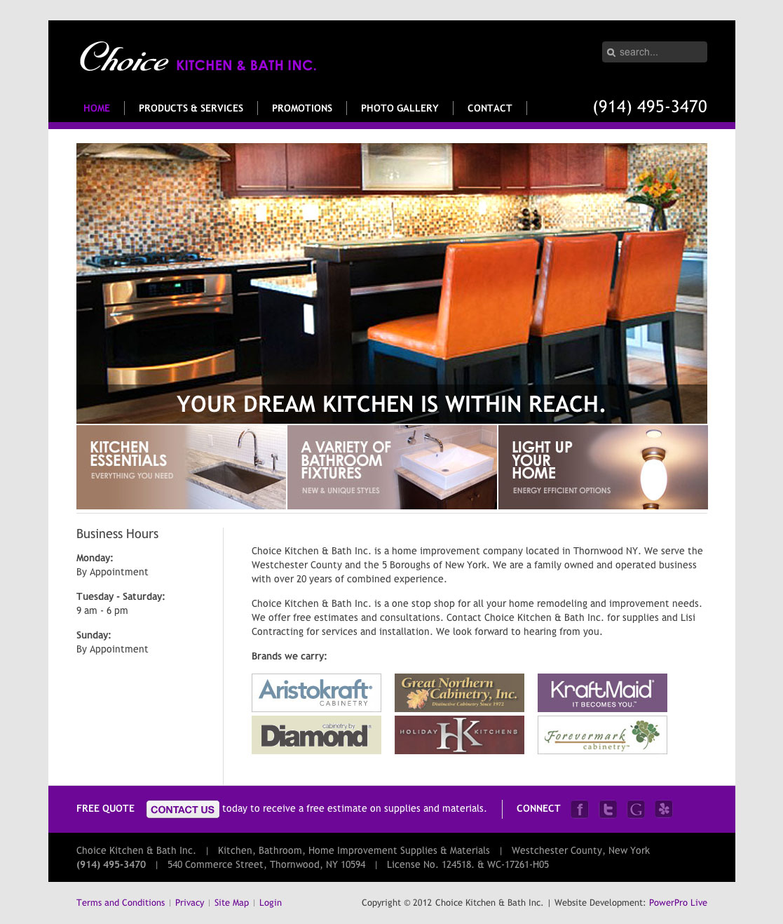 Kitchen Bath Contractor Websites Web Design Bay Area SEO CMS