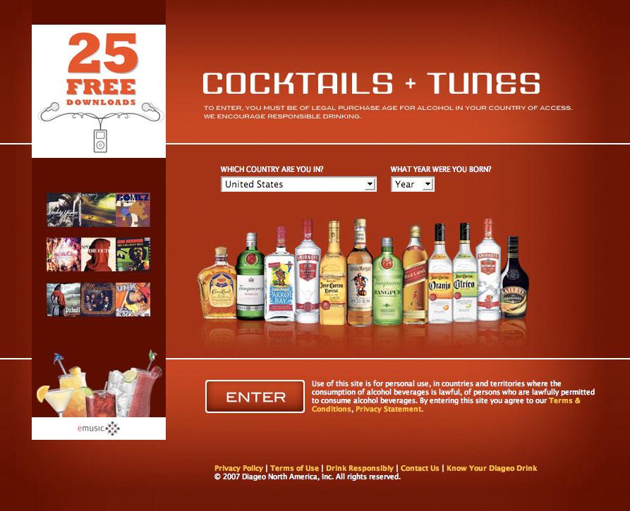 cocktails-tunes-website