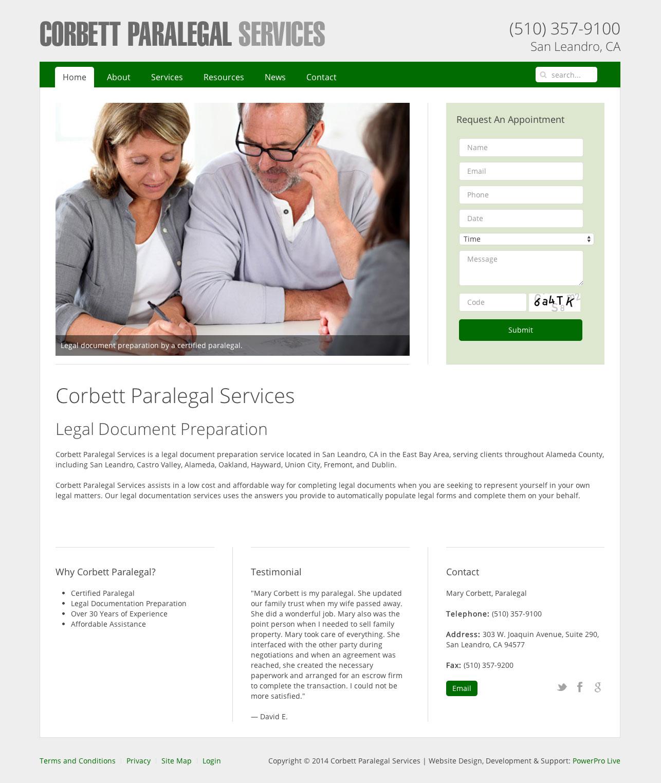 corbett-paralegal-website