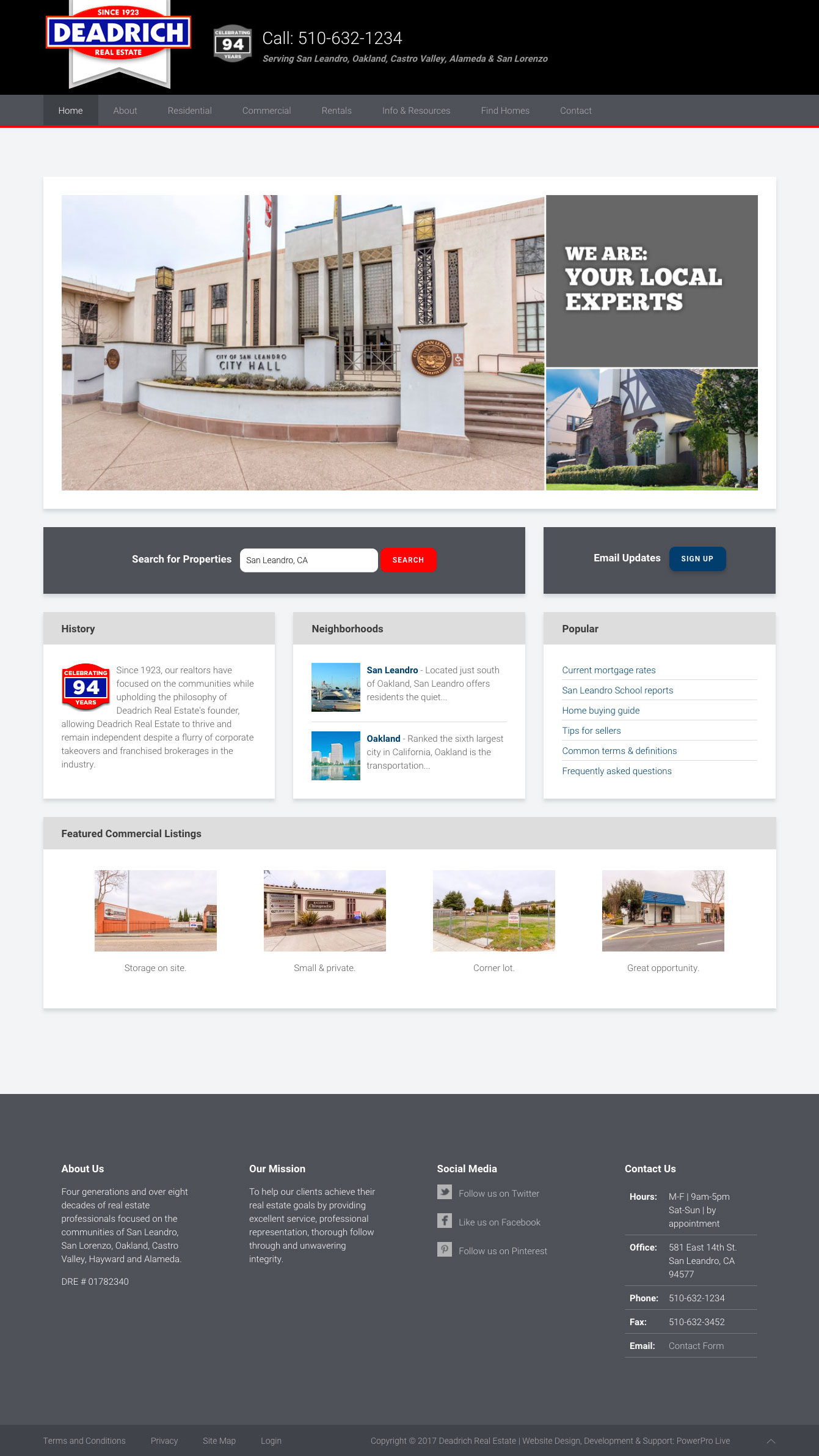 deadrich-real-estate-website