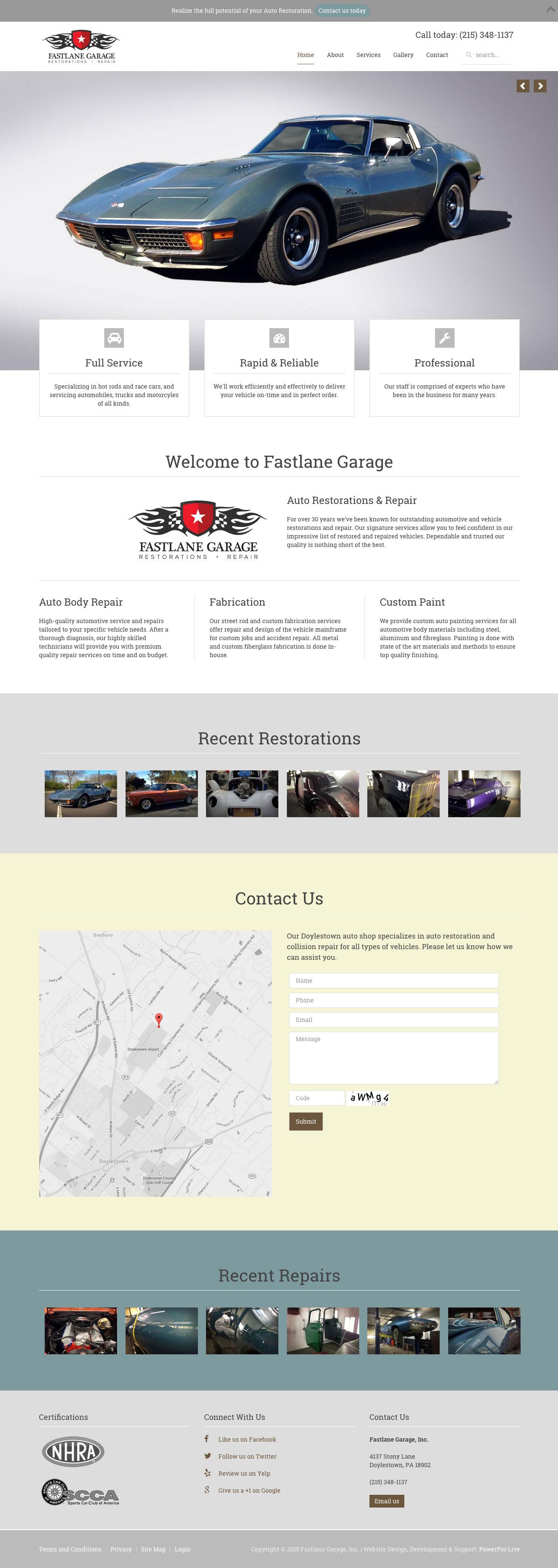 fastlane-garage-website