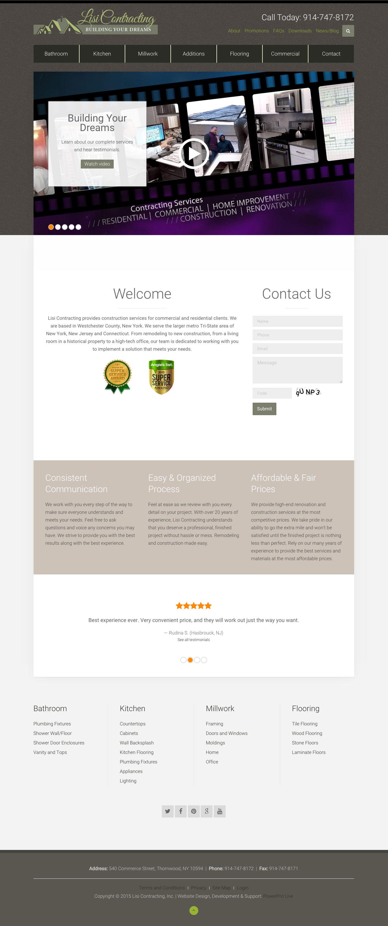 lisi-contracting-website