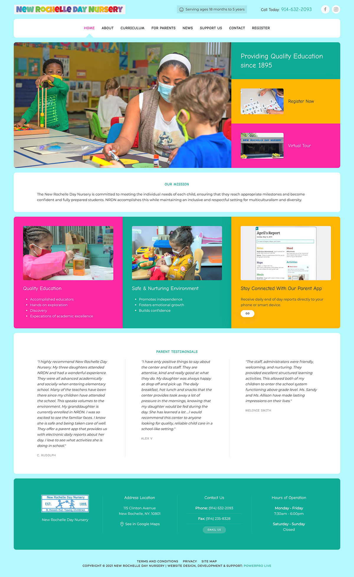 New Rochelle Day Nursery Web Design Bay Area Seo Cms Development