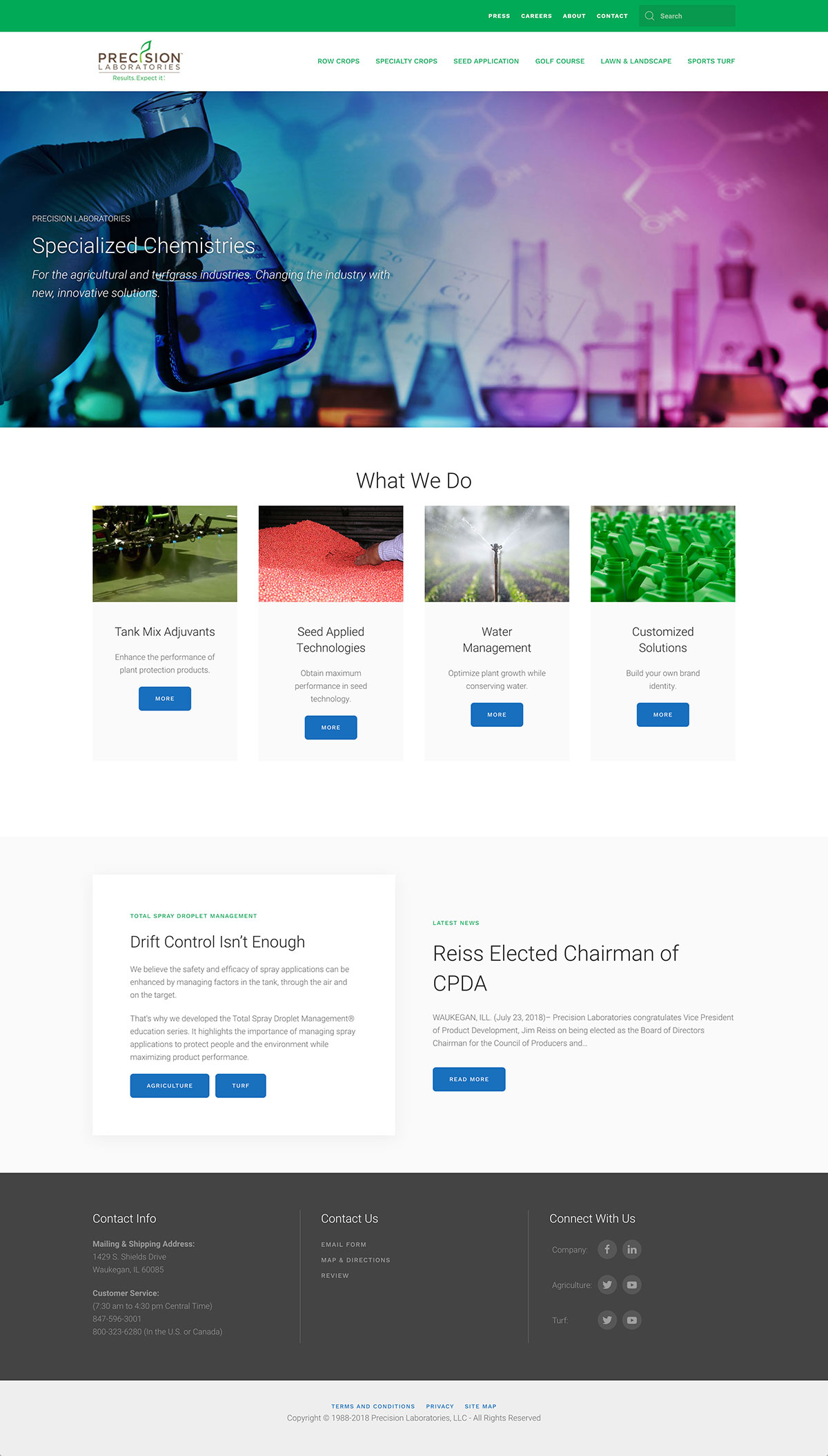 precision-laboratories-website