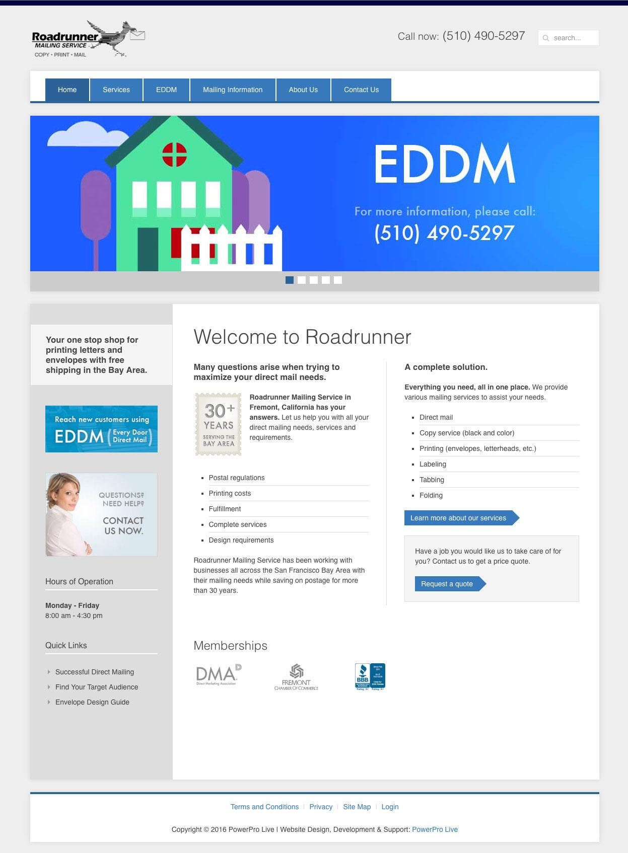 roadrunner-mailing-website