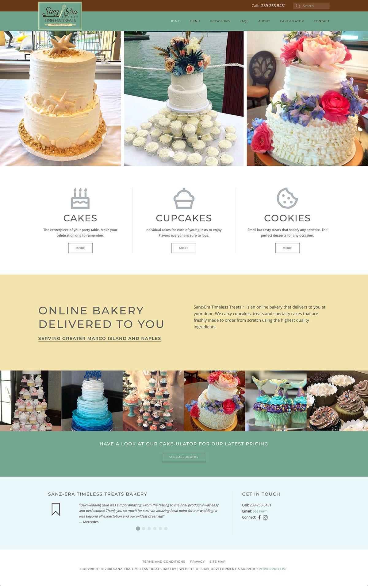 sanz-era-bakery-website