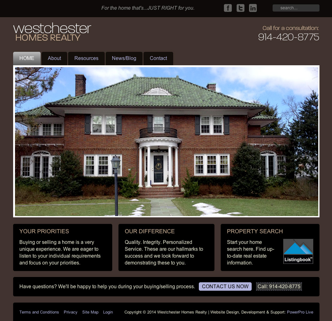 westchester-homes-realty-website