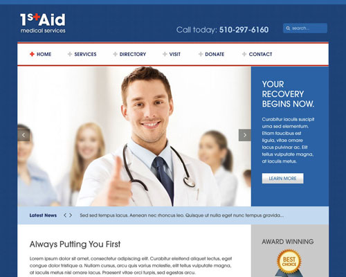 medical website themes, Skeleton
