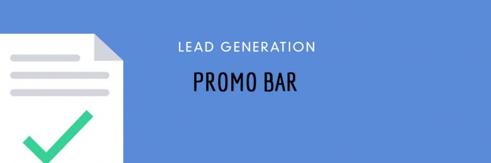 Lead Generation: Promotion Bar